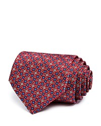 Bloomingdale's The Men's Store At Floral Grid Classic Tie 100 Exclusive Red