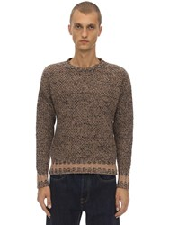 Massimo Piombo Lambs Wool Knit Sweater Beige