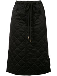 Marni Quilted Drawstring Waist Skirt Black