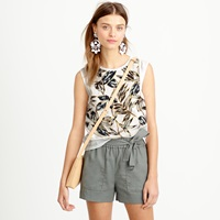 J.Crew Contrast Paneled Shell