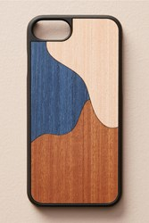 Anthropologie Wood'd Blue Inlay Iphone 6 7 Case Navy