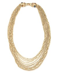 Carolee Layered Chain Link Necklace 18 Gold Multi