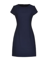 Fabrizio Lenzi Short Dresses Dark Blue