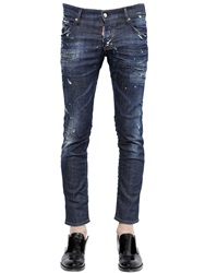 Dsquared 18.5Cm Boot Cut Stitching Stretch Jeans Blue