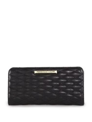 Rebecca Minkoff Sophie Quilted Leather Snap Continental Wallet Black
