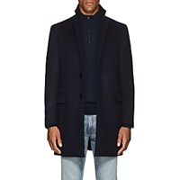 Sanyo Water Repellent Brushed Wool Melton Coat Midnight Navy