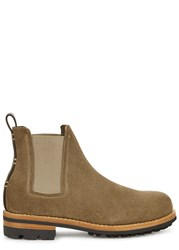 Feit Taupe Suede Chelsea Boots Brown