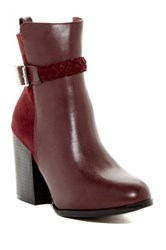 Modern Rebel Bane Faux Fur Lined Boot Red
