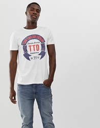 Tom Tailor T Shirt With Branded Print In White