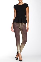 Cj By Cookie Johnson Wisdom Coated Ankle Skinny Jean Brown