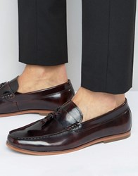 Lambretta Tassel Loafers In Burgundy Red