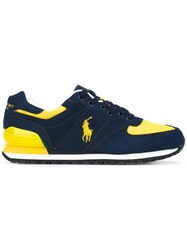 Polo Ralph Lauren Logo Embroidery Lace Up Sneakers Men Suede Polyester Rubber 12 Blue