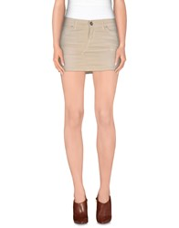 Miss Miss By Valentina Denim Skirts Beige