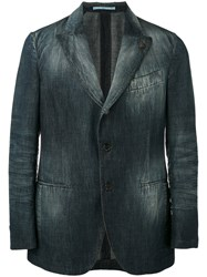 Gabriele Pasini Denim Blazer Men Cotton 46 Blue