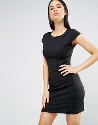 Ax Paris Cap Sleeve Shift Dress With Pockets Black