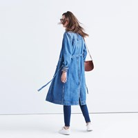 Madewell Rivet And Thread Denim Duster Coat