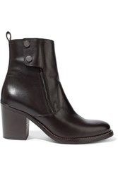 Belstaff Dursley Leather Ankle Boots Chocolate