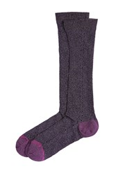Golden Goose Socks With Metallic Thread Purple