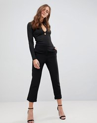 Finders Keepers Huntr Cropped Trousers Black