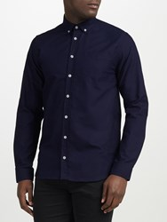 Libertine Libertine Hunter Long Sleeve Oxford Shirt Peacoat