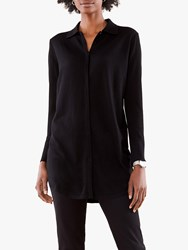 Pure Collection Merino Wool Tunic Black