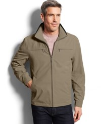 London Fog Big And Tall Micro Hipster Jacket Camel