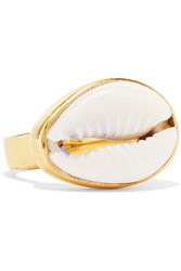 Tohum Puka Gold Plated And Shell Ring 52