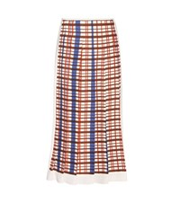 Victoria Beckham Printed Pleated Midi Skirt Multicoloured