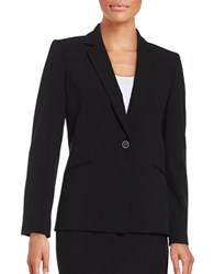 Tahari By Arthur S. Levine Regular Fit Notch Lapel Blazer Black