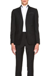 Givenchy 2 Button Notch Lapel Blazer In Black