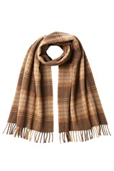 A.P.C. Checked Wool Scarf Brown