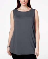 Inc International Concepts Plus Size Sleeveless Tunic Length Shell Only At Macy's