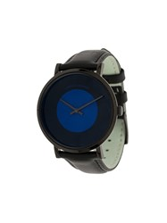 Larsson And Jennings Code Dot Leather Watch Black