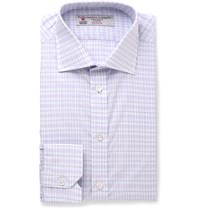Turnbull And Asser Slim Fit Checked Cotton Shirt Purple