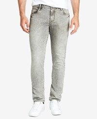 William Rast Men's Hollywood Slim Fit Gray Jeans Marble
