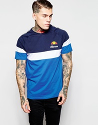 Ellesse T Shirt With Taping Blue