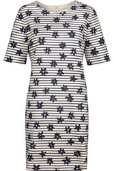 Chinti And Parker Printed Stretch Cotton Mini Dress Navy