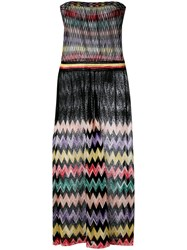 Missoni Sheer Panel Zig Zag Dress Black