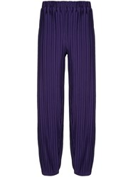 Bambah Pleated Harem Style Trousers Purple