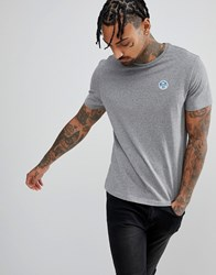 North Sails Patch Logo T Shirt In Grey Grey 0928