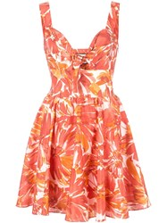 Alexis Watercolor Dress Orange