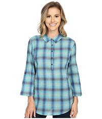 Royal Robbins Oasis Plaid Pullover Top Spearmint Women's Long Sleeve Pullover Green