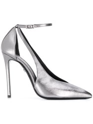 Grey Mer Cut Out Stiletto Pumps 60