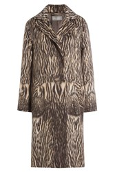 Alberta Ferretti Printed Coat With Virgin Wool And Alpaca Wool Animal Prints