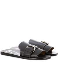 Acne Studios Virgie Leather Slip On Sandals Black