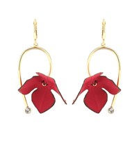 Marni Floral Earrings Red
