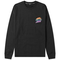 Opening Ceremony Long Sleeve Rugby Tee Black