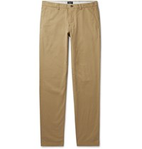Club Monaco Slim Fit Cotton Blend Twill Chinos Neutrals