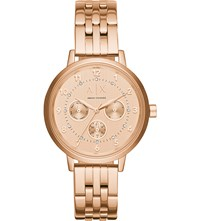 Armani Exchange Rose Gold Bracelet Watch
