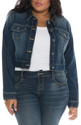 Slink Jeans Plus Size Women's Embroidered Denim Jacket